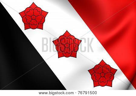 Flag Of Roosendaal, Netherlands.