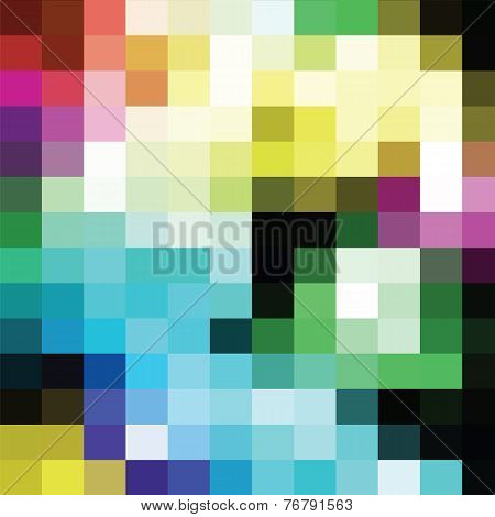 Colorful Geometric Background Of Colored Rectangles