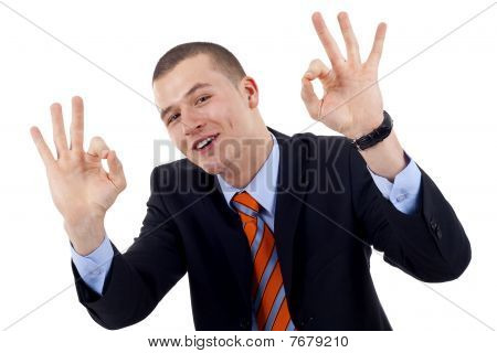 Man Giving Ok Gesture