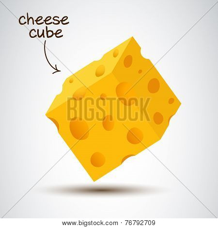 3D Cheese Cube