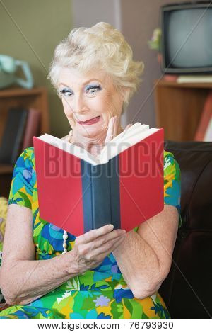 Uneasy Woman Reading