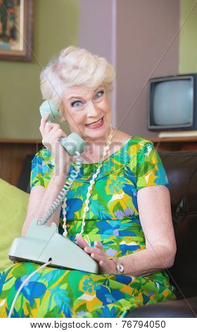 Smiling Woman On Phone