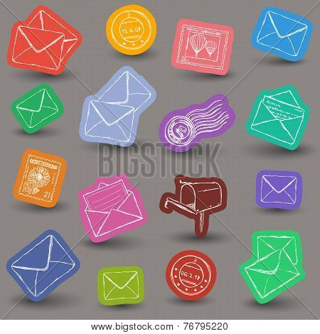Mailing Doodle Icons