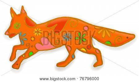 Fox Paint Doodle