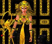 picture of pharaohs  - A powerful Egyptian woman who has anointed herself pharaoh - JPG