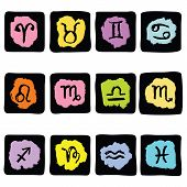 stock photo of pisces horoscope icon  - Horoscope Zodiac Star signs - JPG