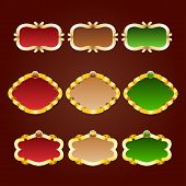 picture of brocade  - Vector set of template frames for greeting card invitation place for text - JPG