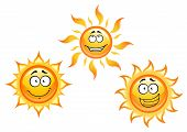 Постер, плакат: Cartoon sun characters