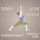 picture of virabhadrasana  - Virabhadrasana I - JPG
