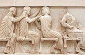 stock photo of artemis  - Ancient Greek Temple Frieze detail - JPG