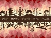 pic of woman dragon  - Banner on a theme of travel to Japan - JPG
