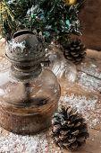 image of kerosene lamp  - old - JPG