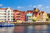 image of curacao  - Colorful houses of Willemstad in Curacao - JPG