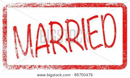 Married Red Stamp