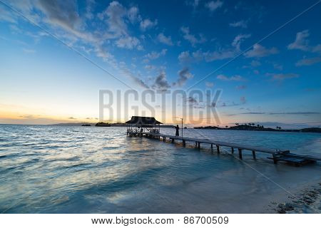 Seascape And Romantic Sky At Dawn