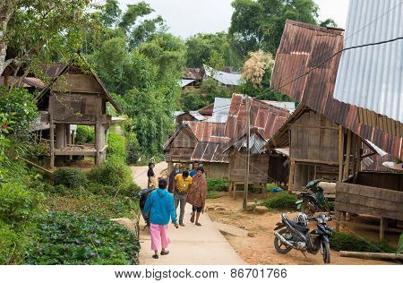 Everyday Life In Traditional Village Of Tana Toraja