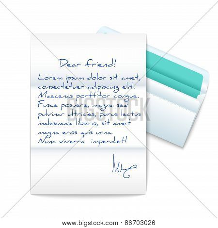 Letter With Opened Envelope