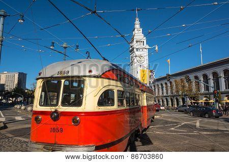 The streetcar of San Francisco