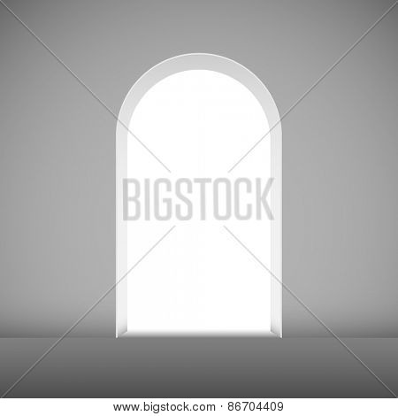 Abstract archway to the light vector template.