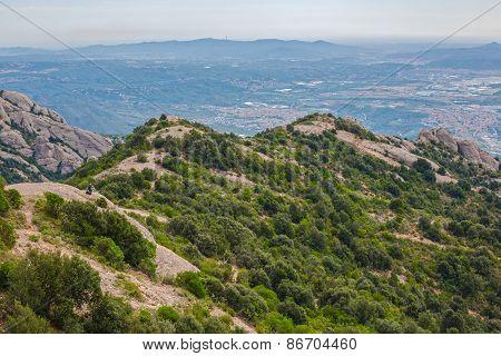 View of Montserrat mountains, Catalonia, Spain.