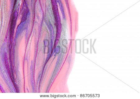 fingernail art border background