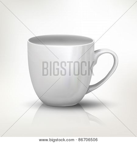 Clear tea cup illustration