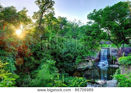 HDR Sunset Waterfall