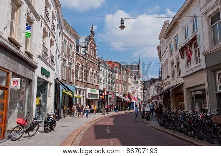 Typical Dutch Architecture of Den Bosch city center