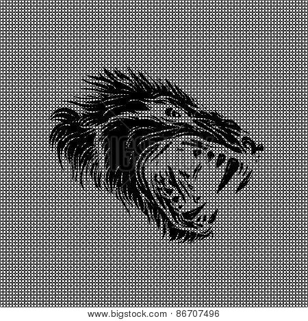 Wolf Made Of Textured Background