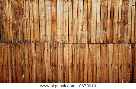 Wooden Wall With Pattern