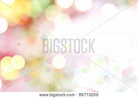 Circles on colorful abstract background