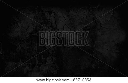 Dark Grunge Textured Wall. Copy Space