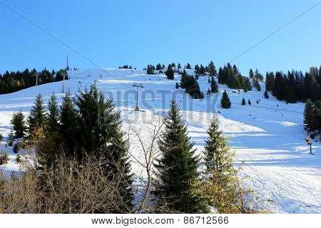 Winter Austria Mountain In The Alps