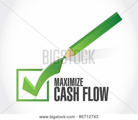 Maximize Cash Flow Check Mark Sign
