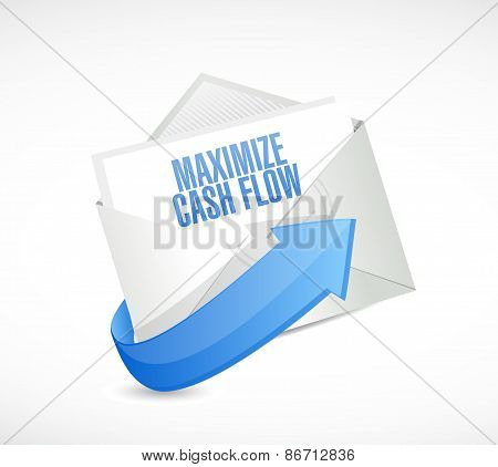 Maximize Cash Flow Email Sign Illustration Design