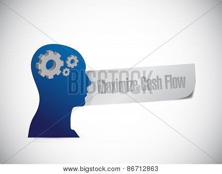 Maximize Cash Flow Mind Sign Illustration Design