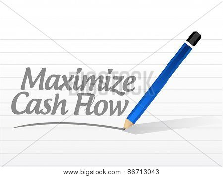 Maximize Cash Flow Message Sign