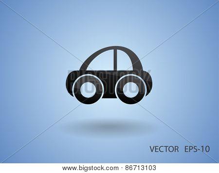 Car icon, vector illustration