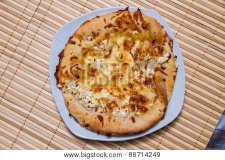 Hot Tasty Bread Cake With Feta Cheese
