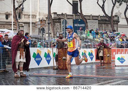Giorgio Calcaterra, The Finish Line At 21Th Rome Marathon.