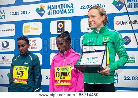 Deborah Toniolo, Third Place In The Women's Race.