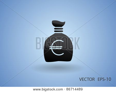 Money bag icon, vector illustration