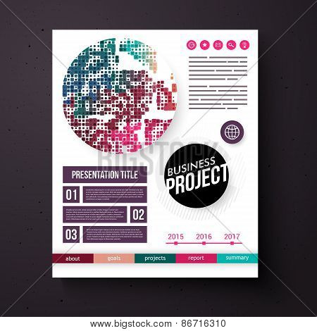 Business Project template in retro colors