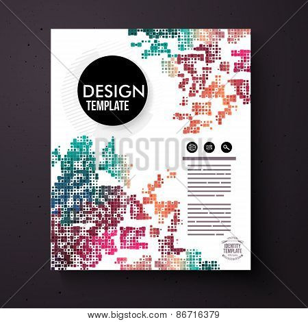 Design Template with a colorful abstract pattern
