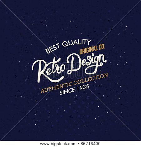 Retro Design clothing label or sign