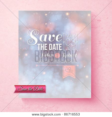 Soft ethereal Save The Date wedding template