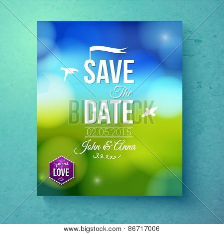 Save The Date wedding template for Spring Wedding