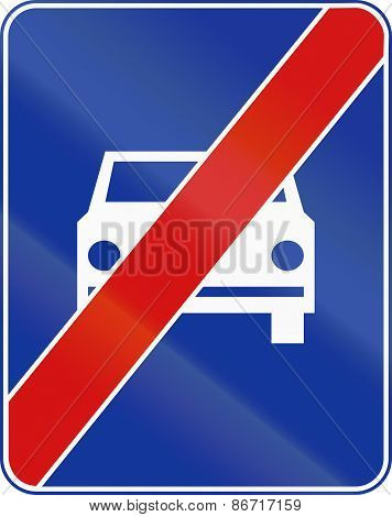 End Of Fast Traffic Highway In Poland