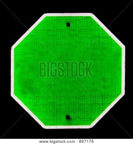 sign blank green