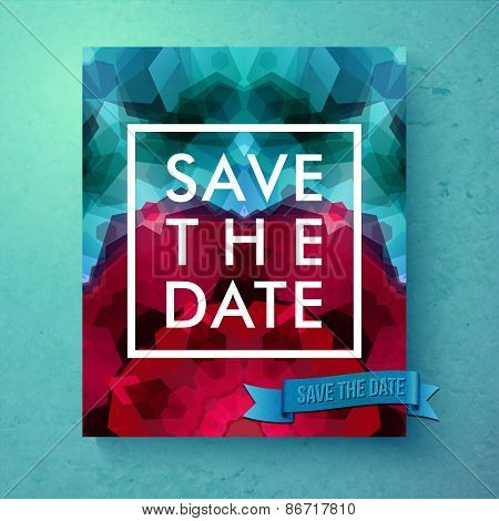 Bold simple Save The Date wedding template